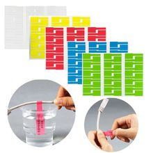 1 Sheet Cable Labels Sticker Waterproof Identification Tags Self-adhesive Cable Tie Sticker Labels