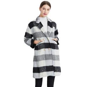 Image 5 - Ailegogo ใหม่ฤดูใบไม้ร่วงฤดูหนาวแคชเมียร์ Trench แจ็คเก็ตผู้หญิงสีดำสีขาวลายสก๊อตความหนาอบอุ่นปุ่มกระเป๋าแจ็คเก็ต