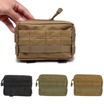 Mini Nylon Tactical Military Modular Molle Pouch Waist Bag Camo Multifunction Casual Waist Pack Utility Tools Mobile Phone Case