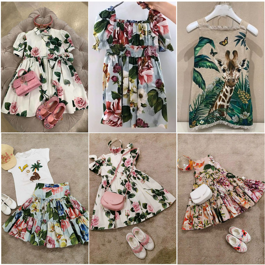 ZMHYAOKE 2020 NEW Summer Baby Girls Casual Dresses Fashion Beach Christmas PARTY Dress Girl Thanksgiving Girls Princess Dress