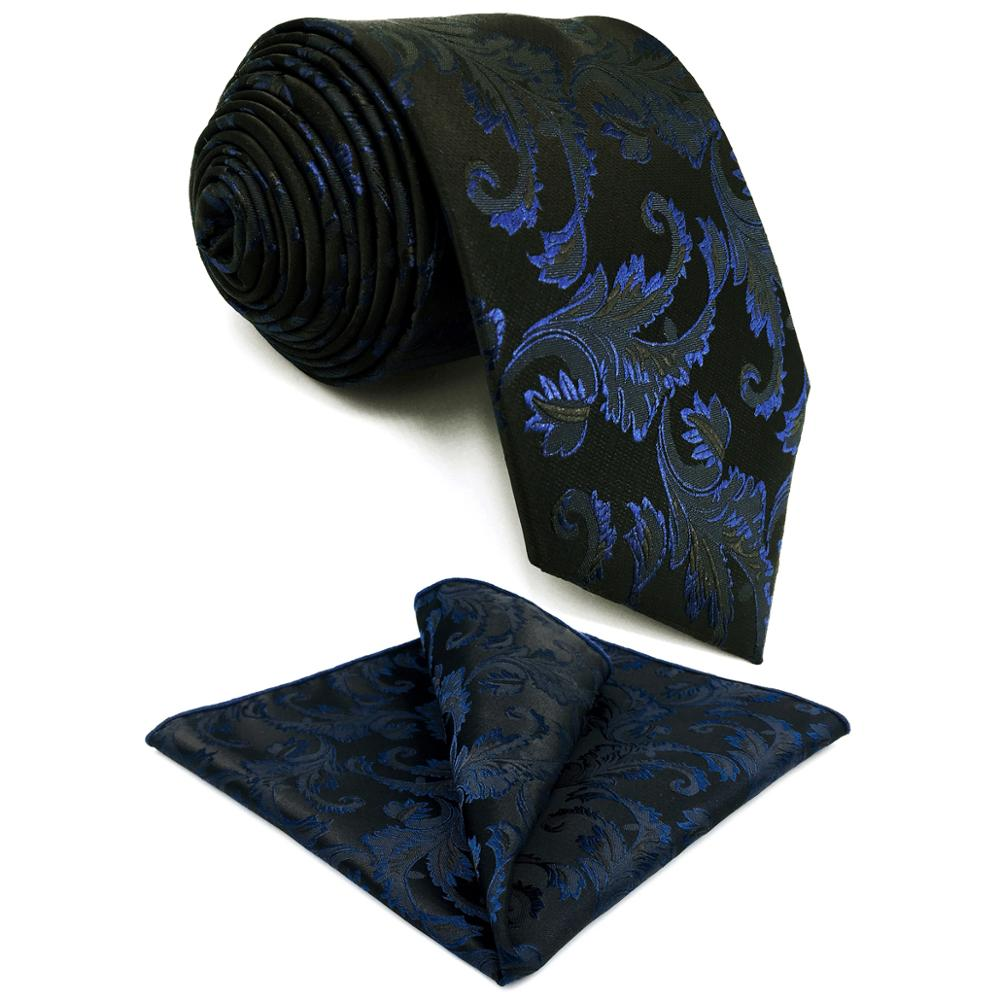 G14 Navy Blue Geometric Silk Mens Neckties Set Fashion Business Ties For Men 63