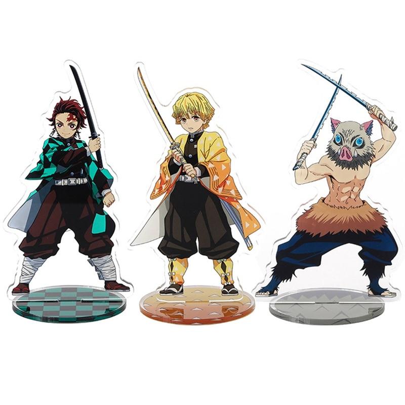 Japan Anime Demon Slayer Kimetsu No Yaiba Figure Kamado Tanjirou Nezuko Action Stand Figure Model Gifts