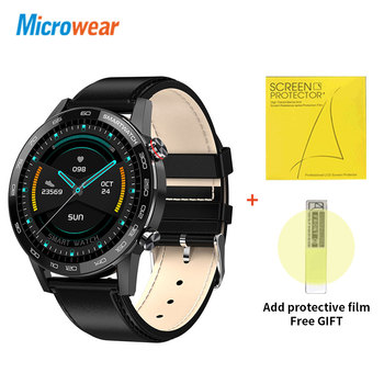 Microwear L16 Smart Watch Men Sports Fitness Tracker IP68 Waterproof Heart Rate Monitor Android IOS Full Touch Screen Smartwatch 9