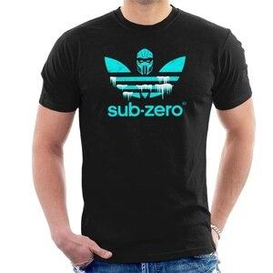 Новинка, забавная Мужская футболка с принтом Sub Zero, Спортивная футболка с логотипом Mortal Kombat, женская футболка