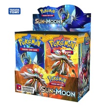 324pcs Pokemon card TCG: Sun & Moon Trading Card Game A Box of 36 Bags Collection 4 pack trading card toploaders 3x4inch transparent