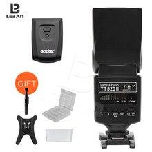 Вспышка для камеры Godox Thinklite TT520II со встроенным беспроводным сигналом 433 МГц для цифровых зеркальных камер Canon Nikon Pentax Olympus s