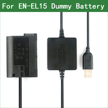 цена на EN-EL15 EL15 EL15a EP-5B Dummy Battery Power Bank USB Cable for Nikon D500 D600 D610 D750 D780 D800 D800E D810 D810A D850