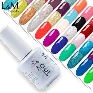 Image 1 - 100pcs uv gel nail Soak Off lDO  Gel Polish For free shipping Gorgeous 290 colors gel nails