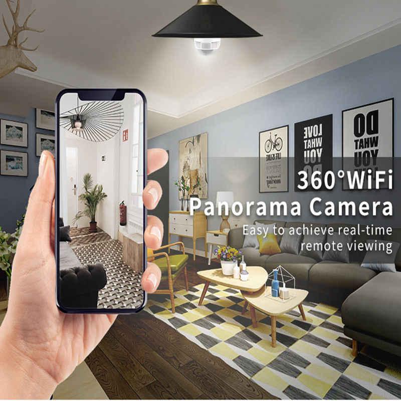 960P 1080P Không Dây IP Camera IP HD Toàn Cảnh 3D VR Camera Wifi Bộ Đèn Ống Kính Mắt Cá 360 Độ Camera Quan Sát Nhà an Ninh Mini Cam Wi-Fi