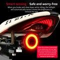 Велосипедный задний светильник MTB  светильник для горного велосипеда  интеллектуальный индукционный тормозной датчик  зарядка через USB  дор...