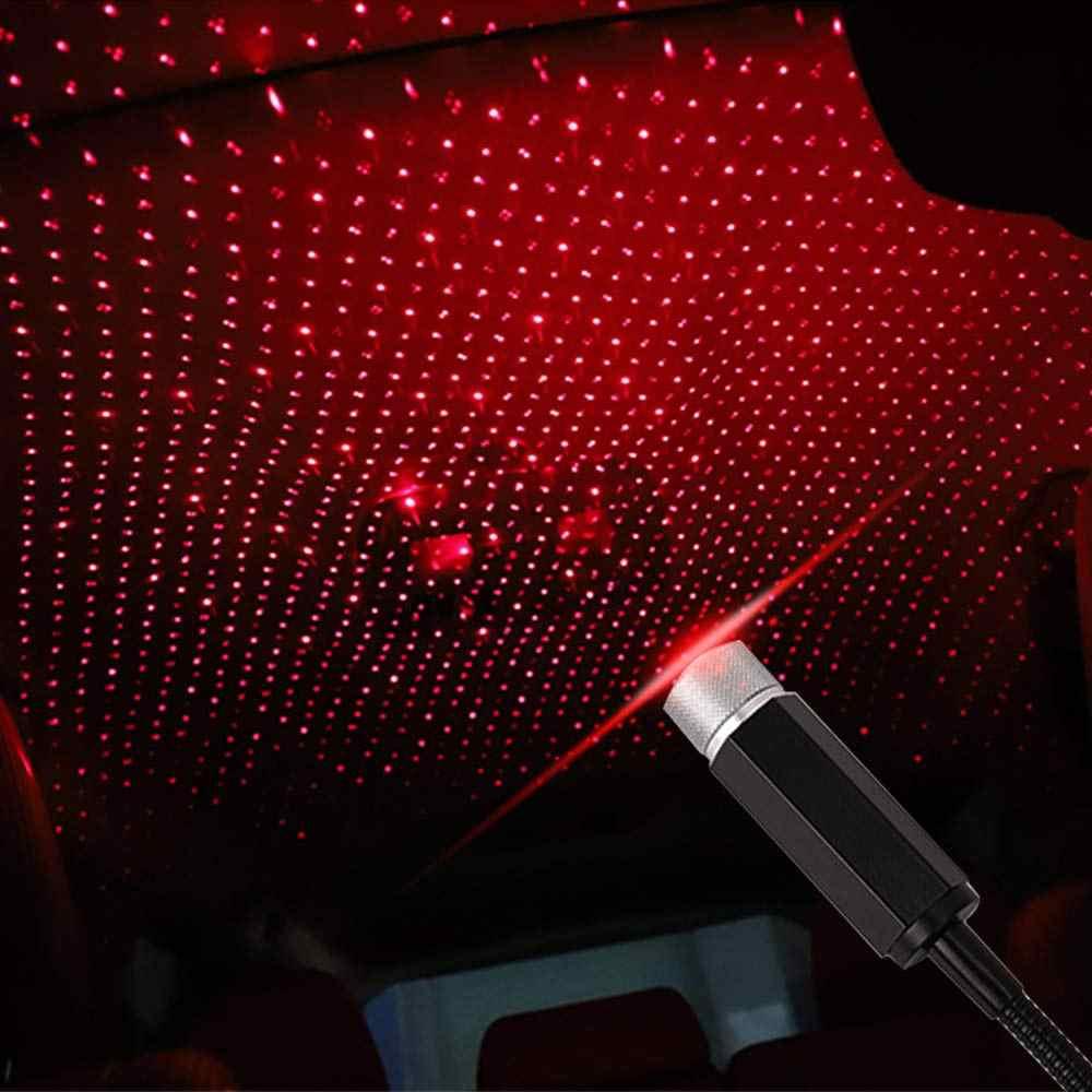 2019 romantyczny Auto Roof Star lampa projekcyjna elastyczna lampa nocna USB pasuje wszystkie samochody ciężarówka suv dekoracje sufitu światło na imprezę