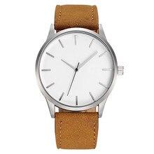 Big Men Watches Sports Brown Leather Band Quartz Watch Wristwatch reloj hombre horloge heren uhr herren
