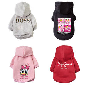 Cartoon Dog Hoodie Winter Pet Dog Clothes For Dogs Coat Jacket Cotton Ropa Perro French