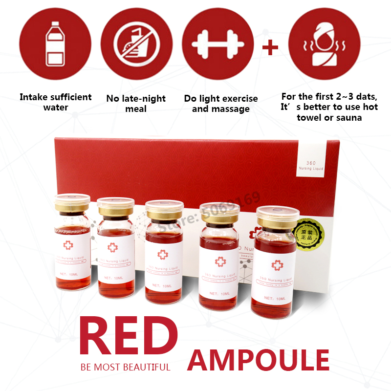 10ml Korean Red Ampoule Weight Loss Lipolysis Lipid Hyaluronic Acid Solution Body Liposuction Lipolysis For Mesotherapy Injectio