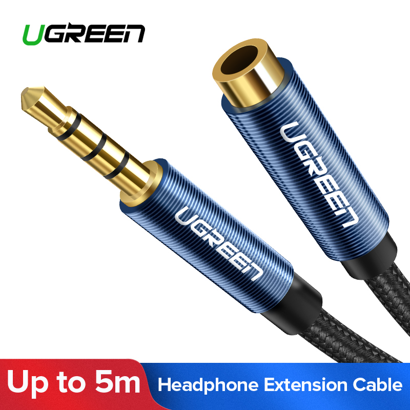 Ugreen Audio-Extension-Cable Headphones Huawei Stereo Xiaomi Redmi 5-Plus PC Jack Aux