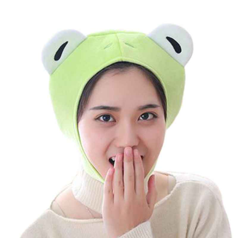 Frauen Mädchen Nette Kaninchen Frosch Tier Earflap Hut Winter Warme Plüsch Beanie Kappe Maske Cosplay Kostüm Party Liefert Foto Requisiten