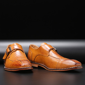 Image 5 - 2020 Mens Dress Shoes Buckle Business Skyle Oxfords Formal Leather Shoes Elegant Wedding Loafers Big Size