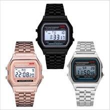 F91W orologio con cinturino in acciaio orologio da polso sportivo digitale a LED Vintage orologio da polso elettronico orologio da donna regalo di san valentino