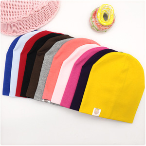 New Baby Street Dance Hip Hop Hat Cotton Spring Autumn Toddler Hat Scarf for Boys Girls Cap Winter Warm Solid Color Children Hat(China)