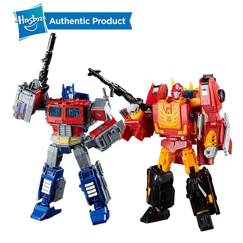 Hasbro Transformers Power Of The Primes Series Leader Ast 8.75Inch Optimus Prime And 9.75Inch Rodimus Prime Rodimus Unicronus