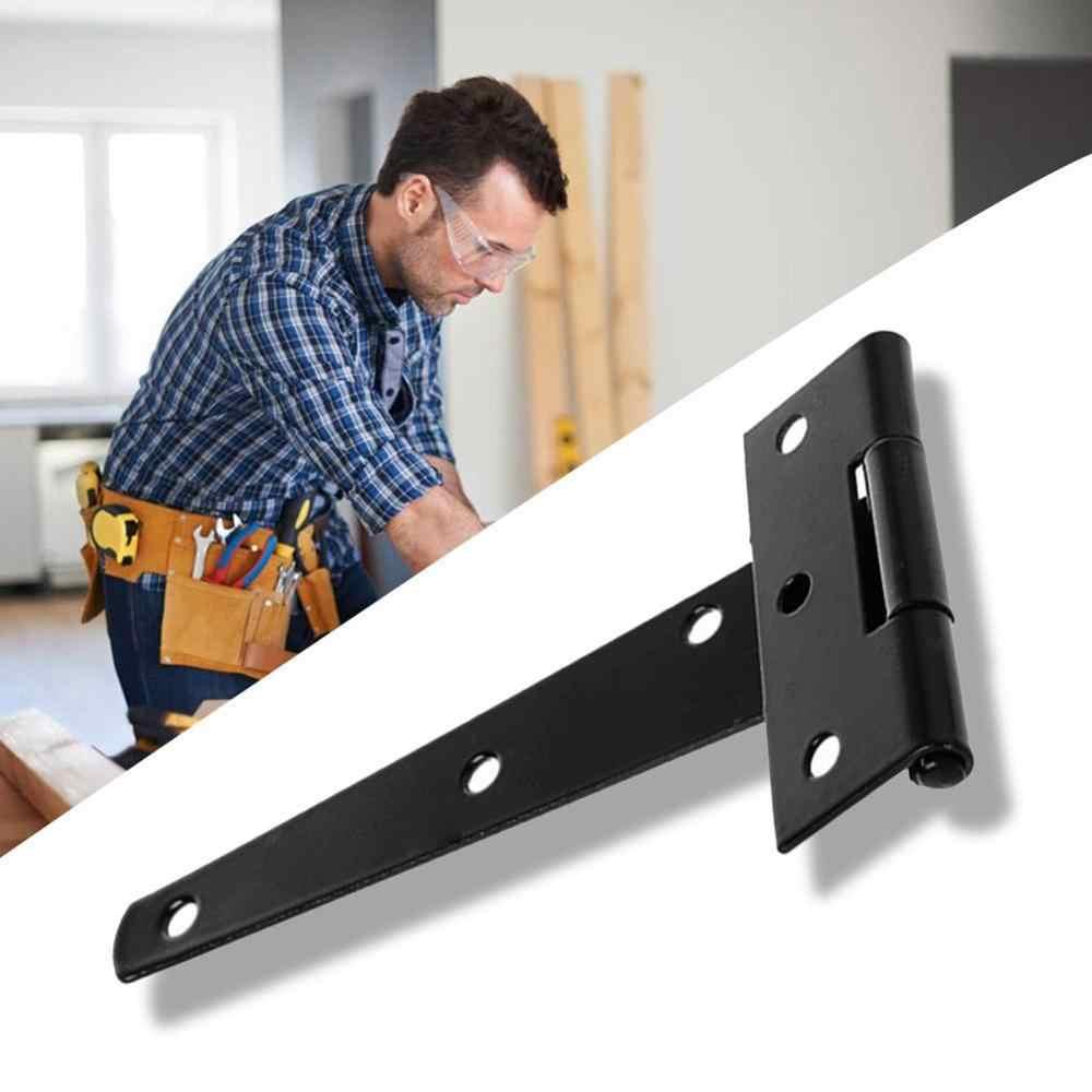 Bisagra en forma de T Bisagra de acero inoxidable Accesorios de instalaci/ón de hardware para puerta de vidrio de gabinete 100x54x4.8mm