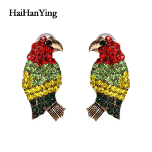 Fashion Bird Color Matching Ladies Earrings Luxury Glamour Jewelry Holiday Leisure Jewelry Fashion Personality Statement fashion jewelry