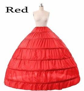 Image 3 - Halka ślubna 6 obręczy suknia balowa halka krynolina Slip podkoszulek bal weselny sukienka halka fioletowy czerwony niebieski duża halka