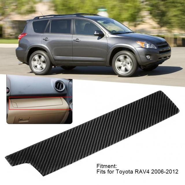 Car Carbon Fiber Copilot Central Control Panel Trim Cover Sticker Fits for Toyota RAV4 2006 2007 2008 2009 2010 2011 2012