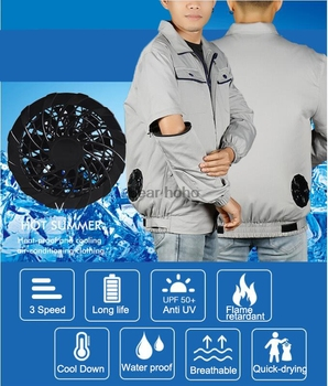Air Conditioning Coverall Summer 3 Speed Cooling Fan Cool Down Welding Work Clothes Labor Protection Clothes Removable Sleeves air conditioning vest cooling clothing aluminum alloy vortex tube worker welding cool clothes for high temperature environment