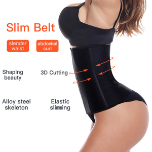Image 3 - Latex Waist Trainer Corset 9 Steel Bone Shapewear Body Shapers Women Corset Slimming Belt Waist Shaper Cinta Modeladora FreeGift