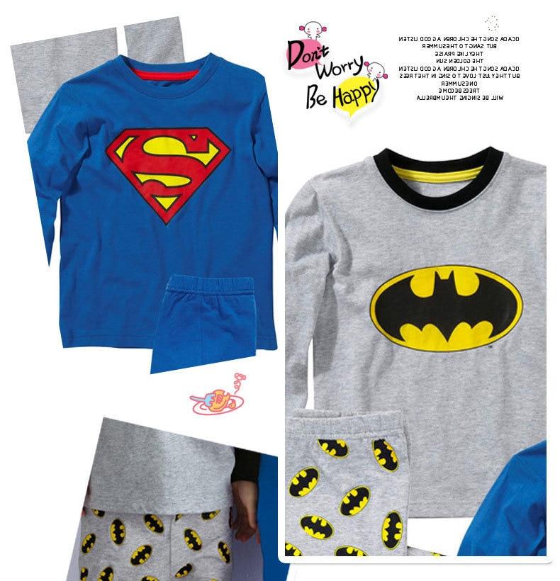 Korean-style Cotton Baby Shui Tao Long Sleeve Pullover Children Sleep Clothes Superman Home Wear CHILDREN'S Suit