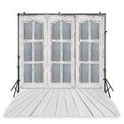 White  wooden window...