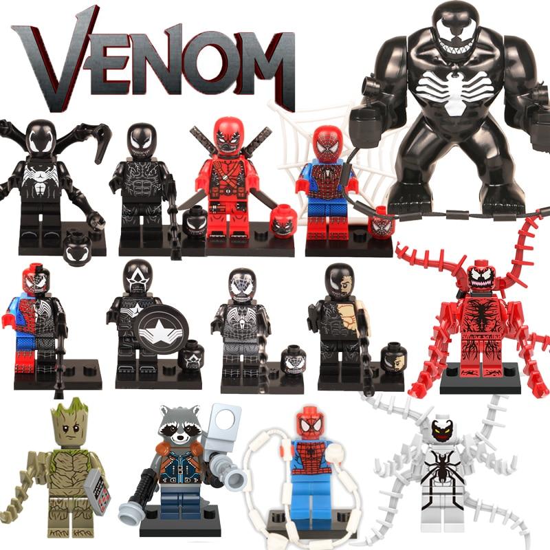 Marvel Compatible LegoINGlys Building Block Figures America Bricks Thanos Avengers 4 WASP Hulk Venom Star Wars Child Toys Gift