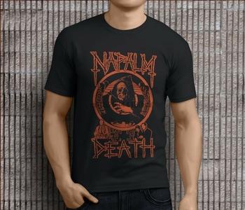 Nowy popularny NAPALM DEATH metalowy zespół rockowy męskie czarne koszulki S-3XL tanie i dobre opinie SHORT CN (pochodzenie) Z okrągłym kołnierzykiem Short sleeve white t-shirt tshirts Black White tee shirt t shirt tops