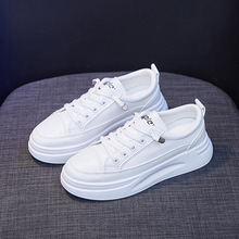 2021 Fashion Sneakers Women Shoes Young Ladies Casual Shoes Female Sneakers Brand Woman White Shoes Thick Sole 3cm A2375