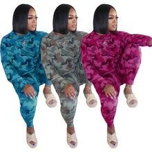 Пуловер с длинным рукавом и камуфляжным принтом свитшот джоггеры