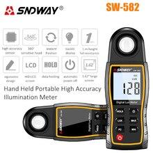 Цифровой Люксметр Lux/измеритель FC светильник-метр для фотосъемки люминометр фотометр ручной спектрометр Illuminomete 200000Lux