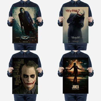 Hollywood Classic Movie The Dark Knight/Joker Character Retro Poster Thriller Horror Spoof Home Bar Decor Painting Wall Sticker image
