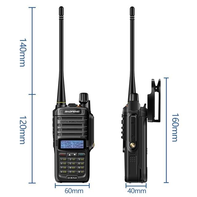 2021 Baofeng UV-9R plus Waterproof IP68  Walkie Talkie High Power CB Ham 30-50 KM Long Range  UV9R portable Two Way Radio 5