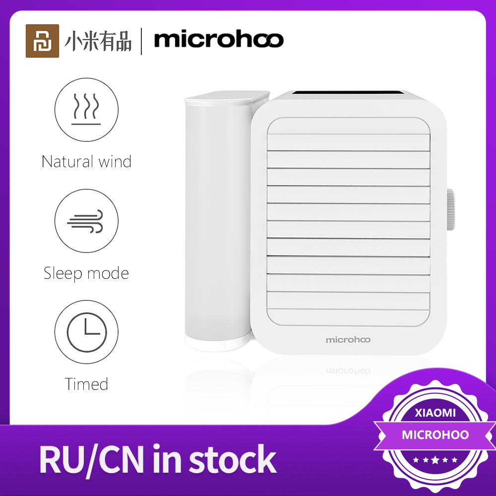 Microhoo Portable Air Conditioner Water Cooling Fan Touch Screen Timing Artic Cooler Humidifier Aromatherapy USB power pack Fan