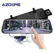 """AZDOME PG02 сенсорный полноэкранный 1"""" зеркальный видеорегистратор для потоковой передачи медиа ADAS двойной объектив ночного видения 1080P видеорегистратор для автомобиля с поддержкой gps"""