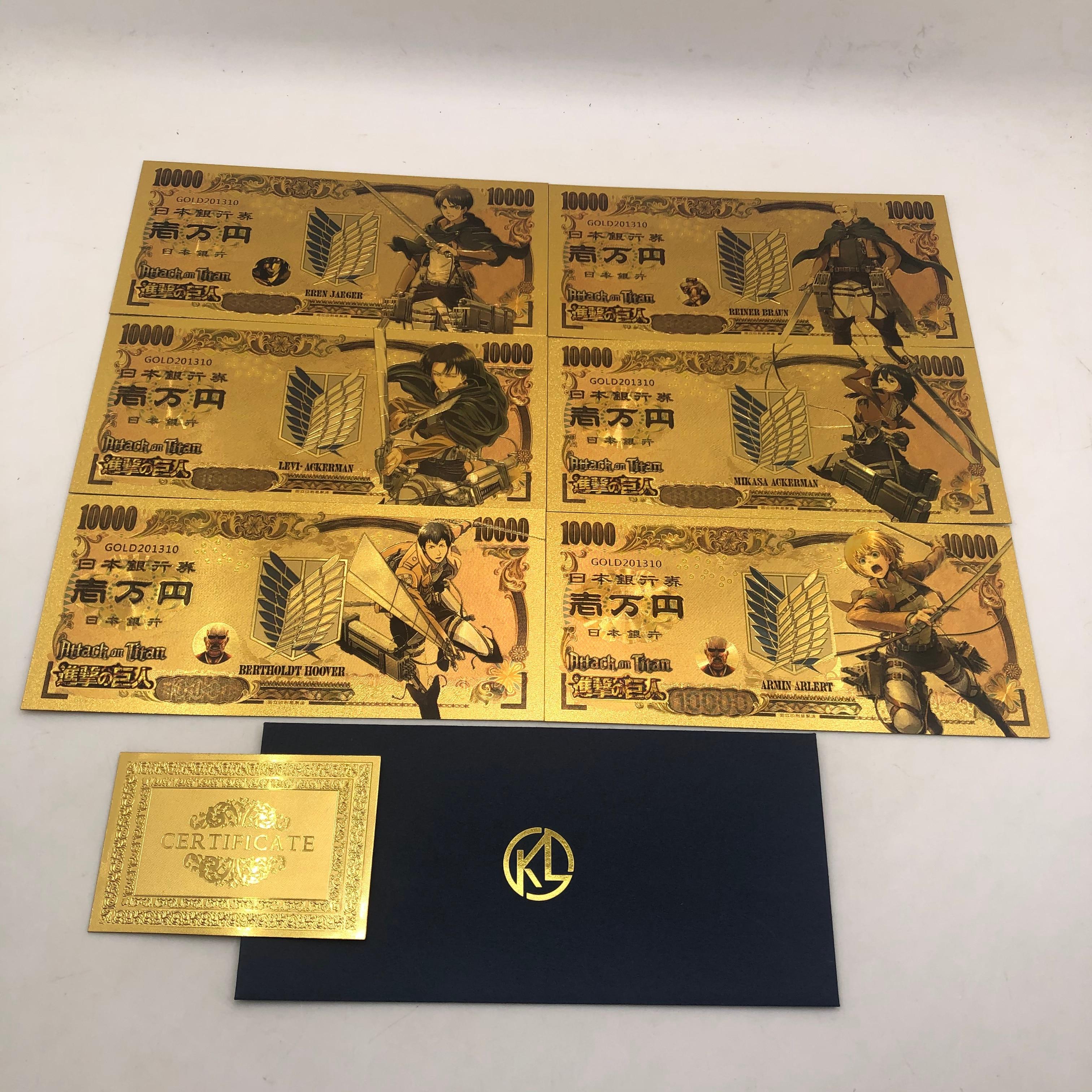 2020 Лидер продаж; Обувь с рисунками из японского аниме золото банкнот для косплея по аниме «атака на Титанов» (Стикеры с принтом в виде персон...