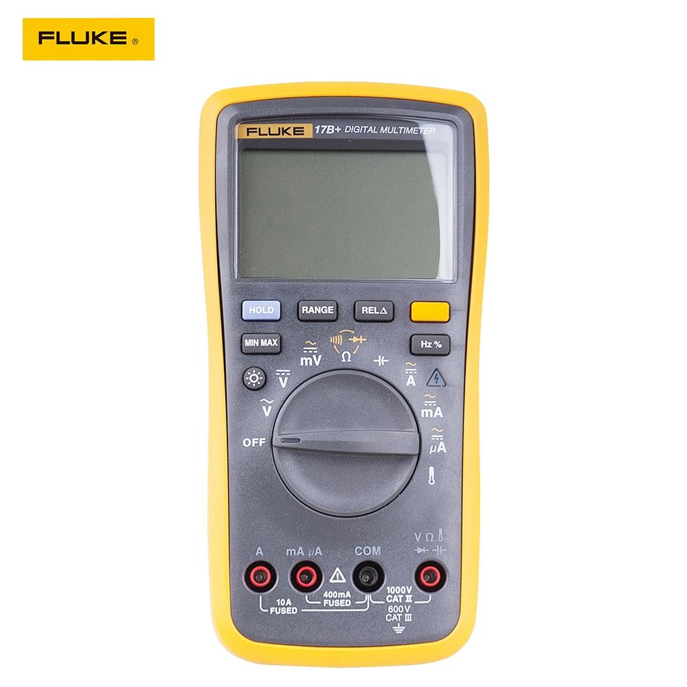 Fluke 17B+ Auto Range Digital Probe Multimeter Meter Temperature & Frequency