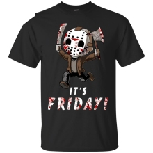 Jason Voorhees T-shirt It's Friday T-shirt Friday The 13th Horror Movie S-3XL T Shirt Men Funny Tee Shirts Short Sleeve sbz1158 scream ghostface sidney prescott horror thriller movie mens black t shirt s 3xl