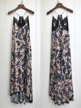 Women Dress 100% Viscose  Romantic Print Cashew Printed Halter Lace Midi Dress