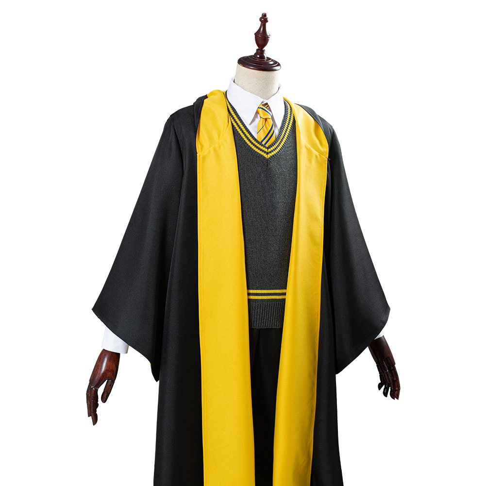 Details about  /Hufflepuff Magic Gown Robe Cosplay Costume Halloween Outfit Cape Only