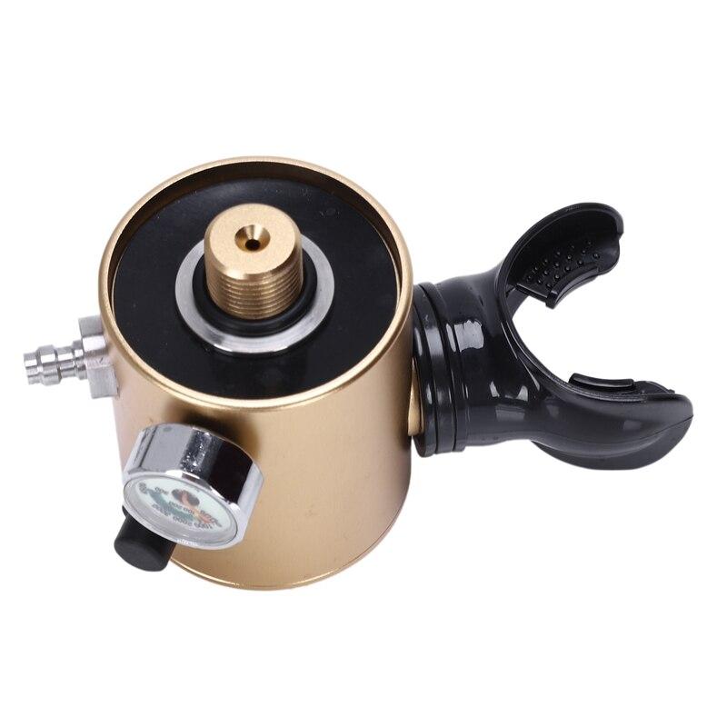 DIDEEP Mini bouteille d'oxygène de plongée réservoirs d'air équipement de plongée pour la plongée en apnée - 3