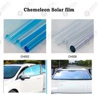 SUNICE 55% VLT /65% VLT Chameleon Window Tint Glass Film Different Angle Different Color Anti UV Front Window Vehicle100cm*500cm