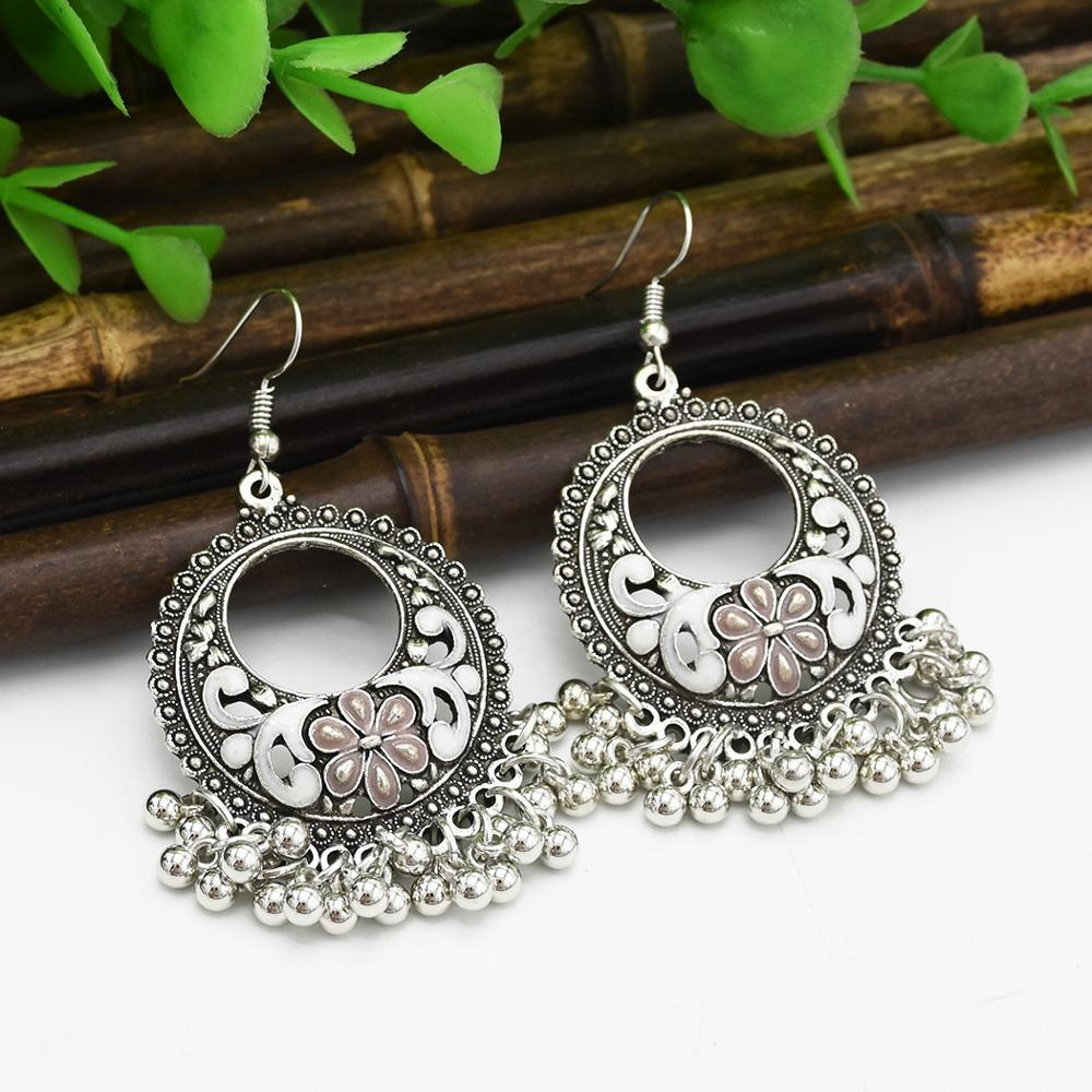 Boho Multiple Vintage Ethnic Dangle Drop Earrings Gifts For Women Female Anniversary Bridal Party Wedding Wholesale Jewelry
