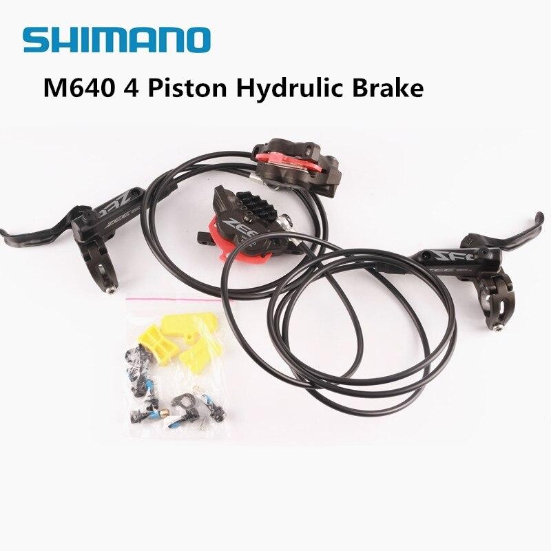 Shimano zee m640 4 피스톤 금속 냉각 핀 유압 디스크 브레이크 mtb 산악 자전거 전면 및 후면 레버 및 캘리퍼스 자전거 부품